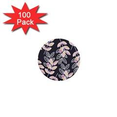 Winter Beautiful Foliage  1  Mini Buttons (100 Pack)  by DanaeStudio