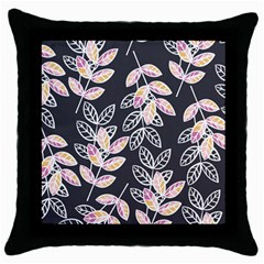 Winter Beautiful Foliage  Throw Pillow Case (black) by DanaeStudio