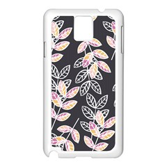 Winter Beautiful Foliage  Samsung Galaxy Note 3 N9005 Case (white) by DanaeStudio