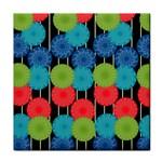 Vibrant Retro Pattern Tile Coasters