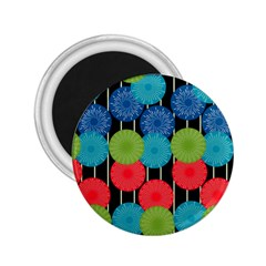Vibrant Retro Pattern 2 25  Magnets by DanaeStudio