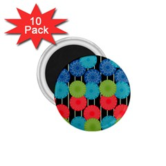 Vibrant Retro Pattern 1 75  Magnets (10 Pack)  by DanaeStudio
