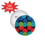 Vibrant Retro Pattern 1.75  Buttons (100 pack)
