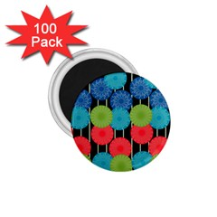Vibrant Retro Pattern 1 75  Magnets (100 Pack)  by DanaeStudio