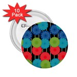 Vibrant Retro Pattern 2.25  Buttons (10 pack)