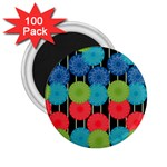 Vibrant Retro Pattern 2.25  Magnets (100 pack)