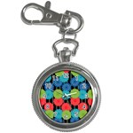 Vibrant Retro Pattern Key Chain Watches