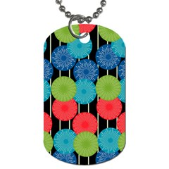 Vibrant Retro Pattern Dog Tag (one Side) by DanaeStudio