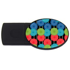 Vibrant Retro Pattern Usb Flash Drive Oval (2 Gb)  by DanaeStudio