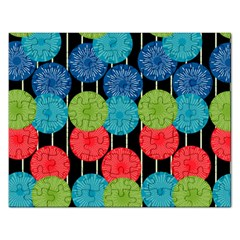 Vibrant Retro Pattern Rectangular Jigsaw Puzzl by DanaeStudio