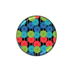 Vibrant Retro Pattern Hat Clip Ball Marker by DanaeStudio