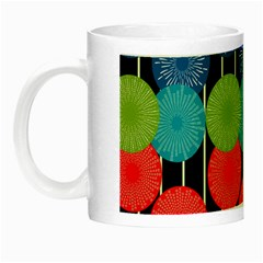 Vibrant Retro Pattern Night Luminous Mugs by DanaeStudio