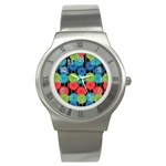 Vibrant Retro Pattern Stainless Steel Watch