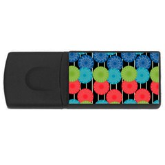 Vibrant Retro Pattern Usb Flash Drive Rectangular (4 Gb)  by DanaeStudio