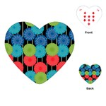 Vibrant Retro Pattern Playing Cards (Heart)
