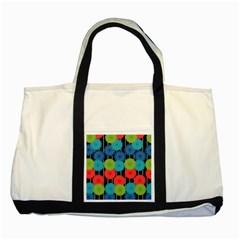 Vibrant Retro Pattern Two Tone Tote Bag by DanaeStudio
