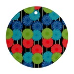 Vibrant Retro Pattern Round Ornament (Two Sides)