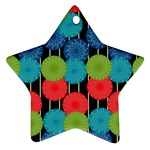 Vibrant Retro Pattern Star Ornament (Two Sides)