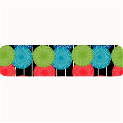 Vibrant Retro Pattern Large Bar Mats by DanaeStudio