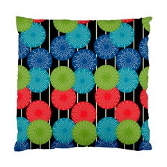 Vibrant Retro Pattern Standard Cushion Case (two Sides) by DanaeStudio