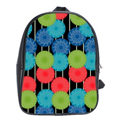 Vibrant Retro Pattern School Bags(large)  by DanaeStudio