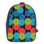 Vibrant Retro Pattern School Bags(Large)