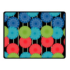 Vibrant Retro Pattern Fleece Blanket (small) by DanaeStudio