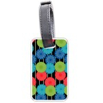 Vibrant Retro Pattern Luggage Tags (One Side)