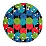 Vibrant Retro Pattern Round Filigree Ornament (2Side)
