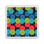 Vibrant Retro Pattern Memory Card Reader (Square)
