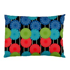 Vibrant Retro Pattern Pillow Case (two Sides) by DanaeStudio