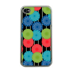 Vibrant Retro Pattern Apple Iphone 4 Case (clear) by DanaeStudio