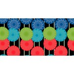 Vibrant Retro Pattern YOU ARE INVITED 3D Greeting Card (8x4)