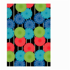 Vibrant Retro Pattern Small Garden Flag (two Sides) by DanaeStudio