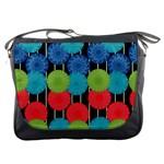 Vibrant Retro Pattern Messenger Bags