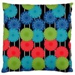 Vibrant Retro Pattern Large Cushion Case (One Side)