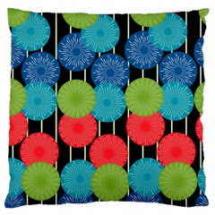 Vibrant Retro Pattern Large Cushion Case (two Sides) by DanaeStudio