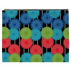 Vibrant Retro Pattern Cosmetic Bag (xxxl)  by DanaeStudio