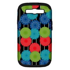 Vibrant Retro Pattern Samsung Galaxy S Iii Hardshell Case (pc+silicone) by DanaeStudio
