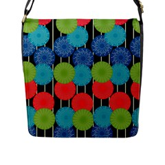 Vibrant Retro Pattern Flap Messenger Bag (l)  by DanaeStudio