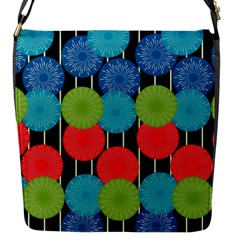 Vibrant Retro Pattern Flap Messenger Bag (s) by DanaeStudio