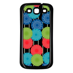 Vibrant Retro Pattern Samsung Galaxy S3 Back Case (black) by DanaeStudio