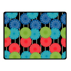 Vibrant Retro Pattern Double Sided Fleece Blanket (small)  by DanaeStudio