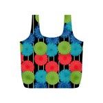 Vibrant Retro Pattern Full Print Recycle Bags (S)