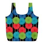 Vibrant Retro Pattern Full Print Recycle Bags (L)