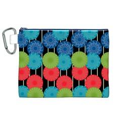 Vibrant Retro Pattern Canvas Cosmetic Bag (xl) by DanaeStudio