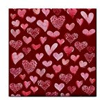 Watercolor Valentine s Day Hearts Tile Coasters