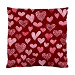 Watercolor Valentine s Day Hearts Standard Cushion Case (Two Sides)