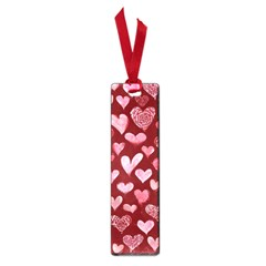 Watercolor Valentine s Day Hearts Small Book Marks by BubbSnugg