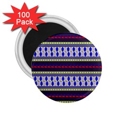 Colorful Retro Geometric Pattern 2 25  Magnets (100 Pack)  by DanaeStudio